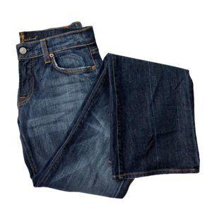 7FAMK | Bootcut Dark-wash Jeans